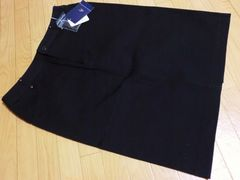 【定価16,800円】新品4℃ストレッチ膝丈タイトスカート黒