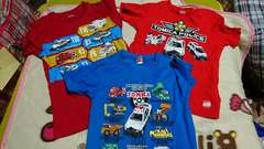 120�a☆トミカ☆Tシャツ3枚セット