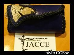 送料無料☆JACCE☆ダイヤモンドパイソンXサドルレザーキーケース☆