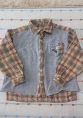 PAPP ♪グレーシンプルチェックシャツ♪120�p