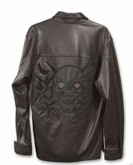 新品GT&カンパニー GT&COMPANY スカル革レザーシャツ ジャケット