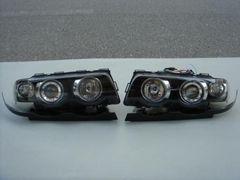 BMW E38 エンジェルアイヘッドライト 黒
