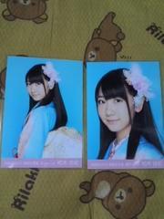 送料込み柏木由紀2010 福袋生写真2枚セミコン