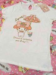 マイメロ×リズリサ☆半袖TシャツバックリボンM�A