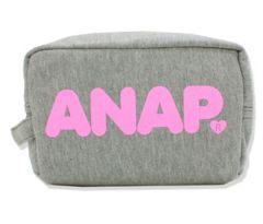 新品ANAP☆ロゴ ポーチ グレー スウェット アナップ