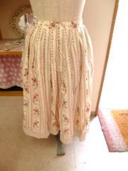 リッチガールストライプ花柄スカート