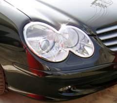 ベンツ メッキヘッドライトリング R230