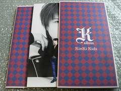 KinKi Kids【K album】初回限定盤/CD+DVD(31曲PV集)写真集他出品