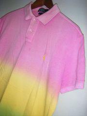 美色限定品ラルフローレングラデーションカラーポロシャツM