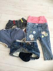 70cm パンツ ズボン スカート 5枚セット H&M GAP まとめ売り