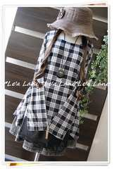 ◆新品◇LL◇春*裾シフォンレイヤー風チュニック♪大きいサイズ