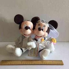 ウェデイングミッキー&ミニーペアぬいぐるみTDR結婚式ディズニー