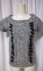 ふわもこラピッドファーが付いたシンプル可愛いセーター(G121