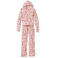 新品大きいサイズカットソーつなぎパジャマ星柄ピンク6L