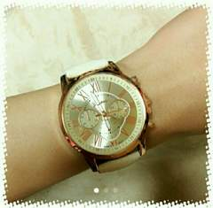 ビッグフェイス 腕時計 オフホワイト ウォッチ アメリカンアパ