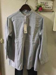 XL☆ユニクロ フランネルスタンドカラーシャツ
