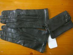 アンテプリマANTEPRIMA黒羊皮革手袋&ポーチ
