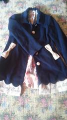 紺色リボンコート