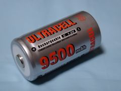 高容量 単二乾電池 充電池 Ni-MH 9500mAh Ultra cell C