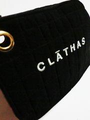 クレイサス/CLATHAS ロゴキルティングポーチ(黒)