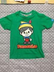 美品ピノキオプリントティーシャツディズニー&コンベックスコラ