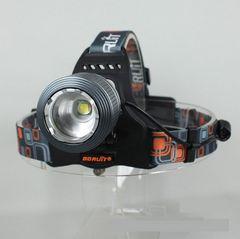 1800LM★RJ-2800CREEXM-LT6LEDヘッドライト+充電池2本/グレー