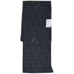 洗える着物 袷 江戸小紋 仕立て上がり Lサイズ 小花 黒89276