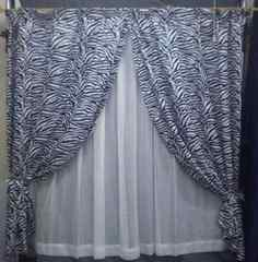 人気のゼブラ柄カーテン 4点セット 100x135cm