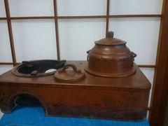 五徳・茶道具・長火鉢用・全銅製・40センチ