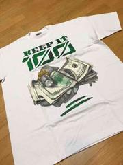 LA直輸入 100keep デザインプリントTシャツ白サイズ2XLXXL