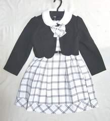 キッズ女児スーツ 黒 ブラック 120 フォーマル モノトーン