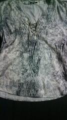 トルネードマート フロント紐付きシャツ Lサイズ