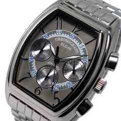 送料無料!エルジン メンズ クロノ 腕時計 FK1403S-IV グレー