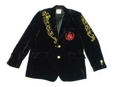 限定セール新品Kanji★刺繍ベロアテーラードジャケット★ブラック3XL大きいサイズ