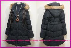 冬新作◆大きいサイズ4Lブラック◆フードフェイクファー◆中綿ロングコート