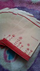 お花柄マチ無し紙袋10枚