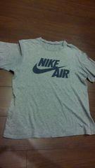 NIKE/霜降りグレー×紺プリントTシャツ/S/adidas TUNE