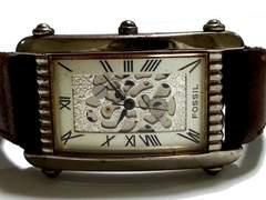 極希 1スタ★FOSSIL フォッシル 美しいアンティーク風腕時計