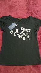 新品 CLATHAS クレイサス レアTシャツ 黒 38 ロゴ
