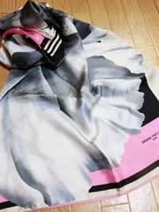 ブルーノピアッテリ/BRUN花柄模様シルク100%大判スカーフ