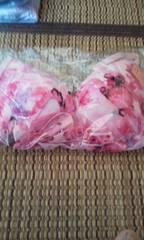 エメフィール ピンク花柄模様 ブラ&ショーツ C70