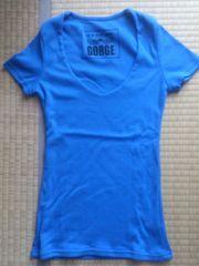 美品★GORGE 美ライン 半袖Tシャツ カットソー ブルーM