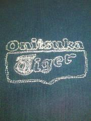 Onitsuka Tiger オニツカタイガー アシックス 長袖 Tシャツ ネイビー ピンク Lサイズ