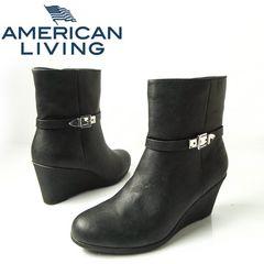 AMERICAN LIVING �E�F�b�W�V���[�g�u�[�c 28cm �u���b�N
