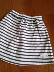 セラフ110☆厚手コットンカットソー素材マリンボーダースカート