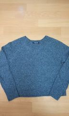MICHEL KLEINセーター黒×グレーサイズ38