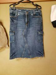 《SM2》デニム膝丈スカート