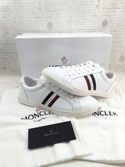 新品 モンクレール ラ・モナコ レザースニーカー 靴 白 メンズ