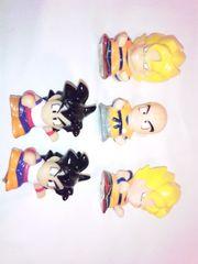 【ドラゴンボール】《チビ人形5コ》◆デコにも◆