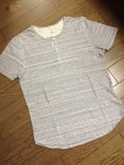 美品EDIFICE デザインボーダーTシャツ 日本製 エディフィス
